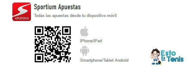 app sportium QR